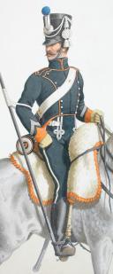1816. Chasseurs à Cheval. Escadron de Lanciers, Maréchal des Logis (8e Régiment - de la côte d'Or). (2)