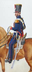 1824, Artillerie à Cheval. Adjudant Sous Officier, Petite tenue. (2)