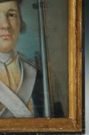 Photo 3 : PASTEL REPRÉSENTANT UN GRENADIER DE LA GARDE NATIONALE DE LA MONARCHIE CONSTITUTIONNELLE, RÉVOLUTION.