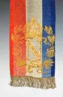 Photo 3 : FRAGMENT DE CRAVATE DE DRAPEAU DE GARDE NATIONALE OU DE DRAPEAU MUNICIPAL, SECOND EMPIRE.