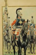 Photo 3 : GAMBEY LÉON, AQUARELLE ORIGINALE : PORTE ÉTENDARD DE LA SECONDE COMPAGNIE DE MOUSQUETAIRES DE LA MAISON MILITAIRE DU ROI, RESTAURATION (1814-1816).