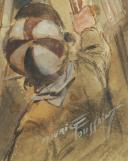 Photo 6 : TOUSSAINT Maurice, GARDE DE MUNICIPALE DE PARIS, AQUARELLE ORIGINALE.