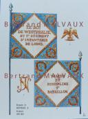 RIGO (ALBERT RIGONDAUD) : LE PLUMET PLANCHE D22 : DRAPEAUX ÉTENDARDS ROYAUME DE WESTPHALIE 1808-1814