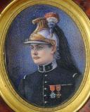 Photo 2 : PORTRAIT MINIATURE SUR VELIN, OFFICIER D'ÉTAT-MAJOR DU 8ème RÉGIMENT DE DRAGONS 1915, PREMIÈRE GUERRE MONDIALE.