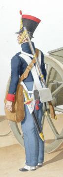 1822. Artillerie à Pied. Officier, Cannoniers. (2)