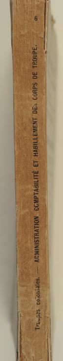 Photo 2 : BULLETIN OFFICIEL. Troupes coloniales. Administration, comptabilité.