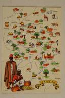 Photo 1 : Carte postale mise en couleurs représentant la région du «SOUDAN».