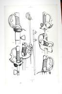 SABRE DE LA CAVALERIE DE 1779 garde à fleurons en fer; planche 1, TOME VII, 1er fascicule 1968.
