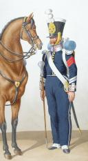 Aquarelle originale par Auguste de MOLTZHEIM, 1828 Infanterie de ligne, 4e Régiment, Colonel et Caporal Tambour. (2)