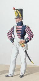 1820. Légions Départentales. Cornet de Voltigeurs (67e Légion - du Haut Rhin), Tambour de Fusiliers (1ère Légion - de l'Ain). (2)