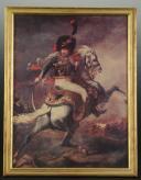 GÉRICAULT Théodore, OFFICIER DES CHASSEURS À CHEVAL DE LA GARDE IMPÉRIALE, PREMIER EMPIRE, GRAVURE. (1)