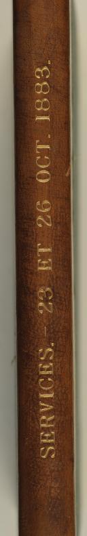 Photo 2 : Décret du 23 octobre 1883 portant règlement sur le service dans les places de guerre et villes de garnison