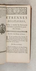 Photo 4 : ETRENNES MILITAIRES tirées du dictionnaire militaire, corrigée et augmentée
