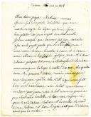 LETTRE DE JACQUES HONORÉ GODOT, soldat au 7e régiment d'infanterie de ligne, Turin le 20 mai 1808, à ses parents, boulangers à Arcies sur Aube.