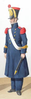 Photo 2 : 1822. Artillerie à Pied. Officier, Sous-Chef Ouvrier d'Etat, Sergent, Caporal.