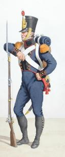 1816. Génie. Sapeur, tenue de tranchée, Sapeur en grande tenue. (2)