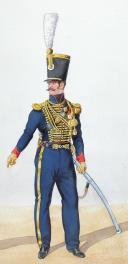 Photo 2 : 1828, Artillerie à Cheval. Adjudant Sous officier, chef