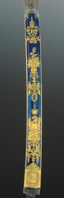 Photo 11 : EXCEPTIONNELLE LAME DE SABRE DE LUXE DE LA MANUFACTURE DE KLINGENTHAL PROVENANT DE LA FAMILLE MURAT, Premier Empire.