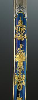 Photo 13 : EXCEPTIONNELLE LAME DE SABRE DE LUXE DE LA MANUFACTURE DE KLINGENTHAL PROVENANT DE LA FAMILLE MURAT, Premier Empire.