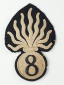 Photo 1 : GRENADE DE SCHABRAQUE DU 8ème RÉGIMENT DE CUIRASSIER, SECOND EMPIRE.