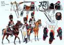 RIGO (ALBERT RIGONDAUD) : LE PLUMET PLANCHE 211 : DRAGONS SAPEURS DES 4e, 9e et 14e REGIMENTS 1806-1809.