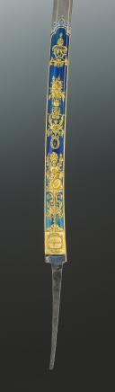 Photo 3 : EXCEPTIONNELLE LAME DE SABRE DE LUXE DE LA MANUFACTURE DE KLINGENTHAL PROVENANT DE LA FAMILLE MURAT, Premier Empire.