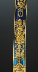 Photo 5 : EXCEPTIONNELLE LAME DE SABRE DE LUXE DE LA MANUFACTURE DE KLINGENTHAL PROVENANT DE LA FAMILLE MURAT, Premier Empire.