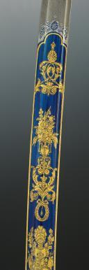 Photo 6 : EXCEPTIONNELLE LAME DE SABRE DE LUXE DE LA MANUFACTURE DE KLINGENTHAL PROVENANT DE LA FAMILLE MURAT, Premier Empire.