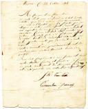 LETTRE DE FRANÇOIS TERRAVALIEN, en détachement à Mayence, À SES PARENTS résidant à Paris, 23 octobre 1808.