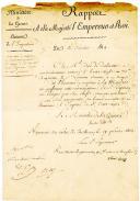 Nomination de porte-aigle. NOMINATION DU Sr ESPERON, 3ème porte-aigle au 70ème Régiment, 16 février 1814. Pièce signée de « Marie-Louise »*.