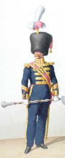 1828. Infanterie de Ligne. Tambour-Major, Caporal-Sapeur (45è Régiment) (2)