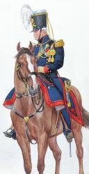 Photo 2 : 1829, Artillerie. Cavalier à Pied, Lieutenant-Colonel.