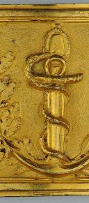 PLAQUE DE CEINTURON D'OFFICIER DU SERVICE DE SANTÉ DE LA MARINE, MODÈLE DU PREMIER PRAIRIAL AN XII, PREMIER EMPIRE. (3)