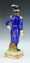 Photo 3 : LAFAYETTE GÉNÉRAL, RÉVOLUTION : figurine en porcelaine de Courille à Paris, XXème siècle.