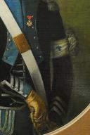 PORTRAIT D'UN CAPITAINE DE L'ÉTAT-MAJOR DE LA CAVALERIE OU D'UN AIDE-DE-CAMP DU COMTE D'OLONNE DE LA LÉGION DE MIRABEAU, DE L'ARMÉE DE CONDÉ, vers 1792-1793, Révolution. (4)