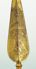 Photo 5 : PIQUE DE DRAPEAU EN BRONZE DORÉ, ANCIENNE MONARCHIE.