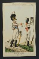 Photo 1 : MARTINET, GRAVURE REHAUSSÉE EN COULEURS : TROUPES ÉTRANGÈRES : DRAGONS BAVAROIS, COLONEL, PREMIER EMPIRE.