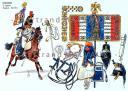 RIGO (ALBERT RIGONDAUD) : LE PLUMET PLANCHE 213 : CUIRASSIERS 5e REGIMENT ETENDARD 1812-1814. (1)
