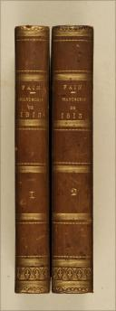 FAIN. Manuscrit de 1813. Paris, Delaunay, 1824, 2 vol. in-8, demi-rel.