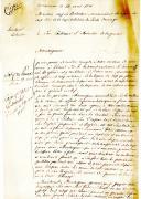 LETTRE DE LOUIS DE MANSUY, chef de Bataillon, commandant la Légion du Cap lors de la capitulation de Santo Domingo à SON EXCELLENCE LE MINISTRE DE LA GUERRE, le 24 avril 1810.