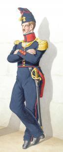 Photo 2 : 1828. Infanterie de Ligne. Fusiliers, Officier (26è Régiment)