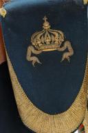 Photo 5 : ENSEMBLE D'OFFICIER D'ORDONNANCE DE L'EMPEREUR NAPOLEON III : TAPIS DE SELLE, FONTES, COUVRE-FONTES DE GRANDE TENUE, COUVRE-FONTES DE PETITE TENUE; SECOND EMPIRE.