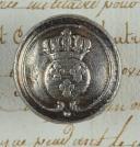 BOUTON D'INFANTERIE OU DE CAVALERIE DE LA GARDE ROYALE, PREMIÈRE RESTAURATION, EN USAGE ENTRE 1815 ET 1816.