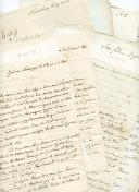 20 LETTRES MANUSCRITES DE COUTARD LOUIS-FRANÇOIS (Général, 1811), baron d'Empire : correspondance à sa femme Hélène D'Avout, 1809-1811.
