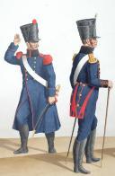 Photo 2 : 1820. Génie. Ouvrier du Génie, Adjudant Sous-Officier, Garde du Génie 1ère classe.