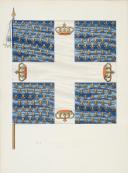DU VIVIER – RECUEIL DES DRAPEAUX DES RÉGIMENTS D'INFANTERIE DE FRANCE - 1715 (5)