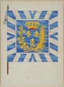 DU VIVIER – RECUEIL DES DRAPEAUX DES RÉGIMENTS D'INFANTERIE DE FRANCE - 1715 (8)