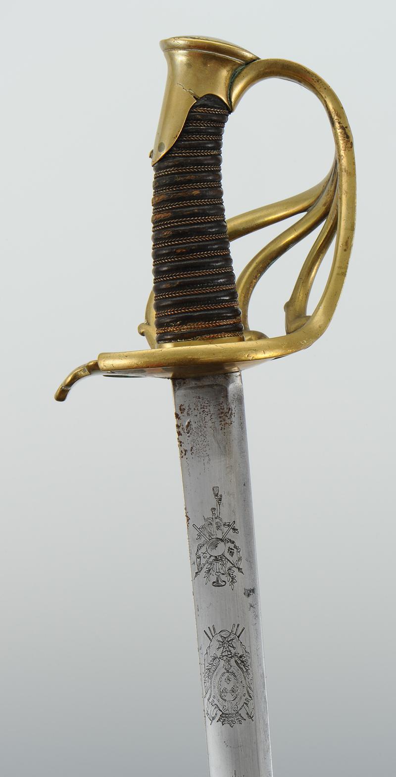 sabre troupe de garde du corps de monsieur  mod u00c8le 1814