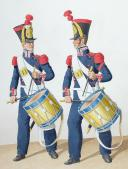 1828.  Ouvriers d'Artillerie. Tambours.