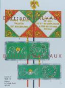 RIGO (ALBERT RIGONDAUD) : LE PLUMET PLANCHE D15 : DRAPEAUX ÉTENDARDS ROYAUME D'ITALIE GARDE ROYALE 1805-1814